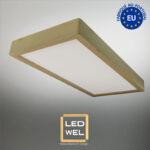 Cadre Design bois 30x60cm en Chêne clair massif avec Panel LED 30W 2500Lm 4000K blanc neutre