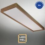 Cadre Design bois 30x120cm en Frêne massif avec Panel LED 40W 4000Lm 4000K blanc neutre