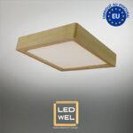 Cadre Design bois 30x30cm en Chêne clair massif avec Panel LED 18W 1400Lm 4000K blanc neutre
