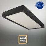 Cadre Design bois 30x60cm laqué noir avec Panel LED 30W 2500Lm 4000K blanc neutre