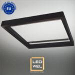 Cadre Design bois 60x60cm laqué noir