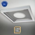 Cadre Design métal LED 60x60cm finition époxy blanc