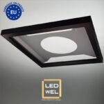 Cadre Design métal LED 60x60cm finition époxy noir