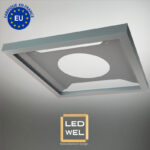 Cadre Design métal LED 60x60cm finition époxy gris