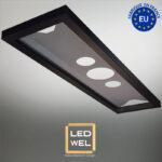 Cadre Design métal LED 30x120cm finition époxy noir