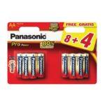 Pile Alcaline Panasonic LR6 AA PRO POWER – blister de 8 + 4 offertes