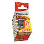 Pile Alcaline Panasonic LR6 AA PRO POWER – boite de 24