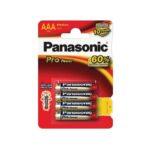 Pile Alcaline Panasonic LR03 AAA PRO POWER – blister de 4