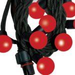 Guirlande de 50 LED intégrées Ø25mm rouges 7,5m de long IP44