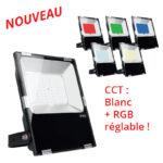 Projecteur LED 100W  RGB-CW-WW 750-8500Lm IP65 étanche Wifi