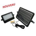 Projecteur LED SOLAIRE 10W 1100Lm IP65 Etanche 4000K blanc neutre avec détecteur de mouvement