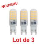 Lot de 3 ampoules LED Capsule G9 4W 350Lm 3000K blanc chaud